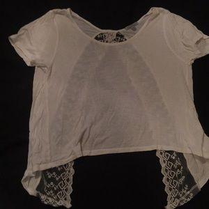 Charlotte Russe Medium Crop Top White